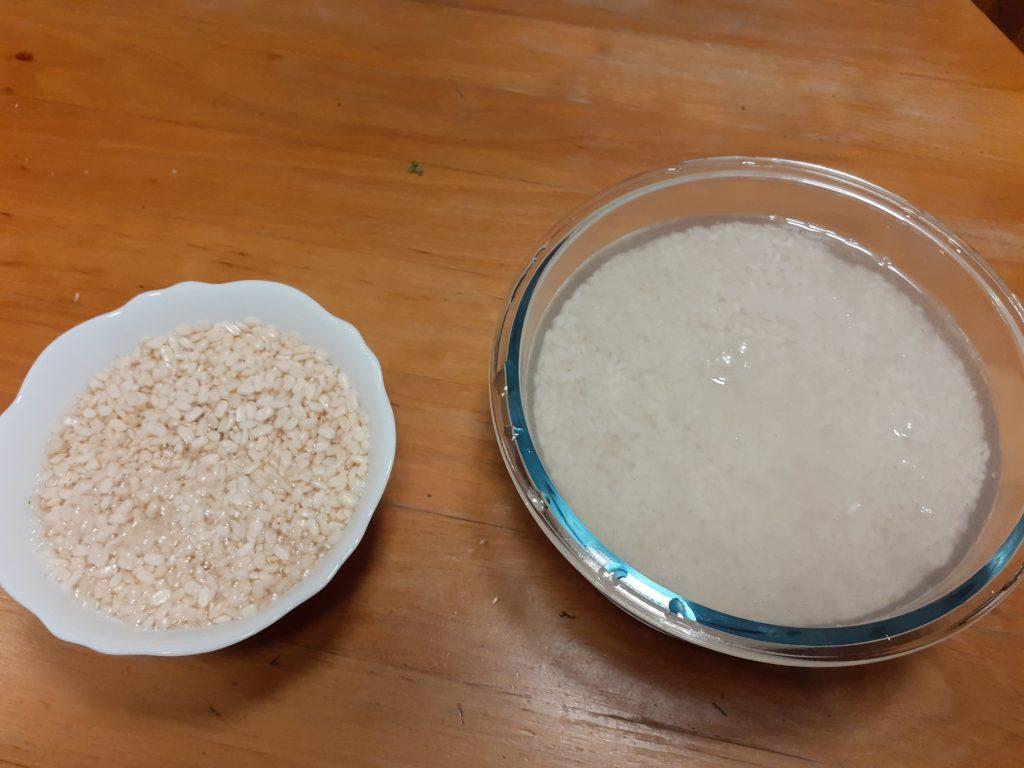 Dal und Reis quellen